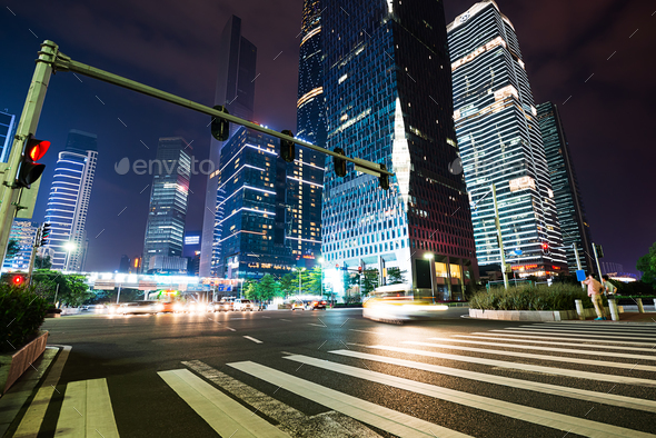 The road in the city - Stock Photo - Images