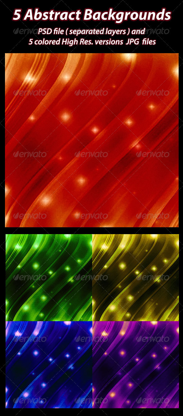 5 Abstract Backgrounds. - Backgrounds Graphics