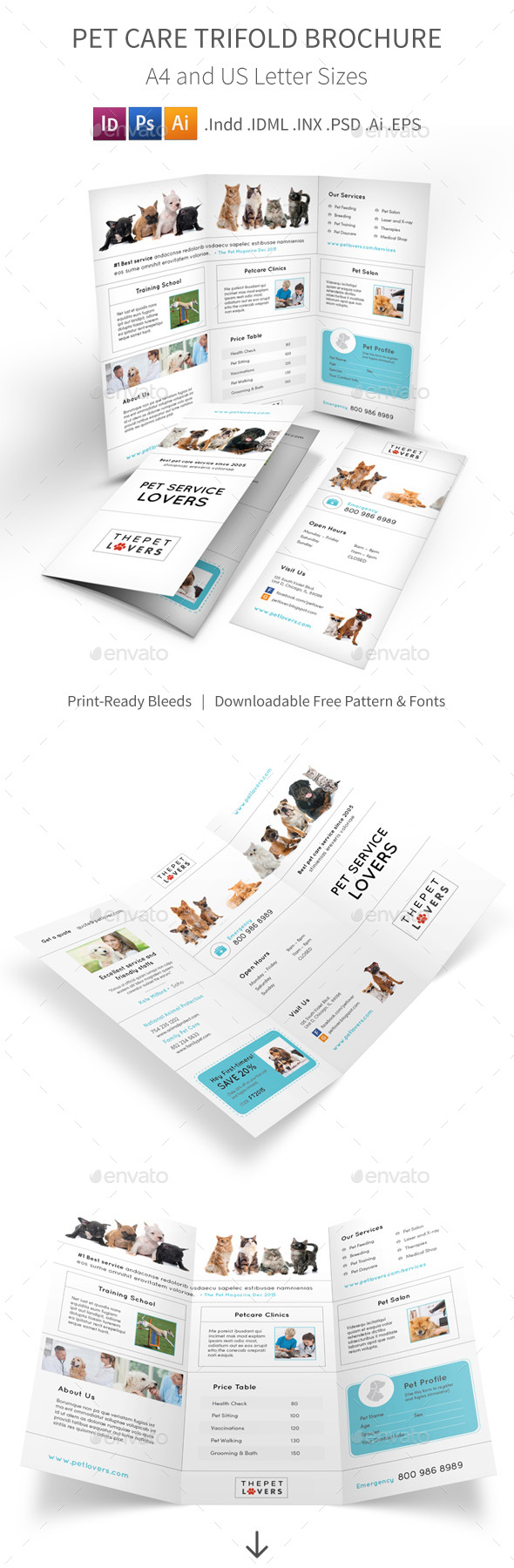 Pet Care Trifold Brochure 4 - Informational Brochures