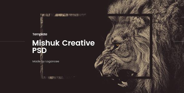 Mishuk - Creative PSD Template - Creative PSD Templates