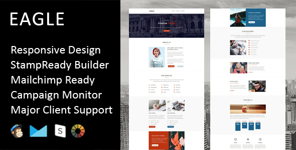 Eagle – Multipurpose Responsive Email Template + Stampready Builder