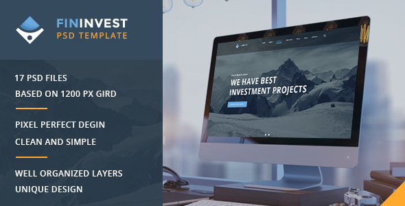 Fininvest — Multipurpose Business, Finance PSD Template - Business Corporate