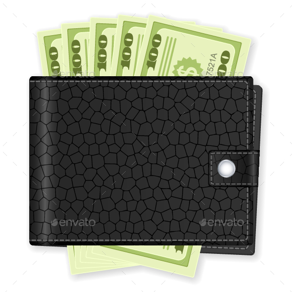 Wallet With Dollar Banknote - Business Conceptual