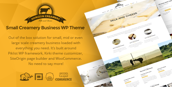 Horizon Creamery – Creamery WP business theme