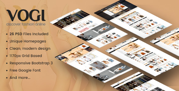 Vogi – Multi-Purpose eCommerce PSD Template