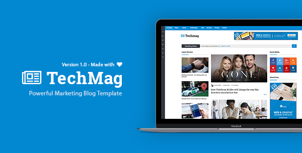TechMag - Multipurpose WordPress News and Magazine Theme - News / Editorial Blog / Magazine