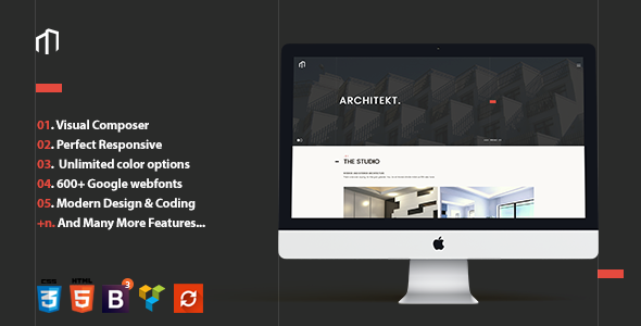 ARCHITEKT - Architecture Multipage WordPress Theme