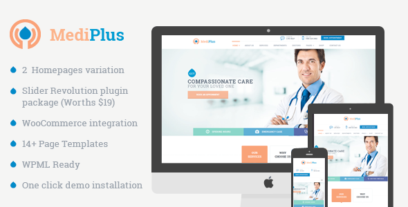 MediPlus – Responsive Theme for Medical and Health