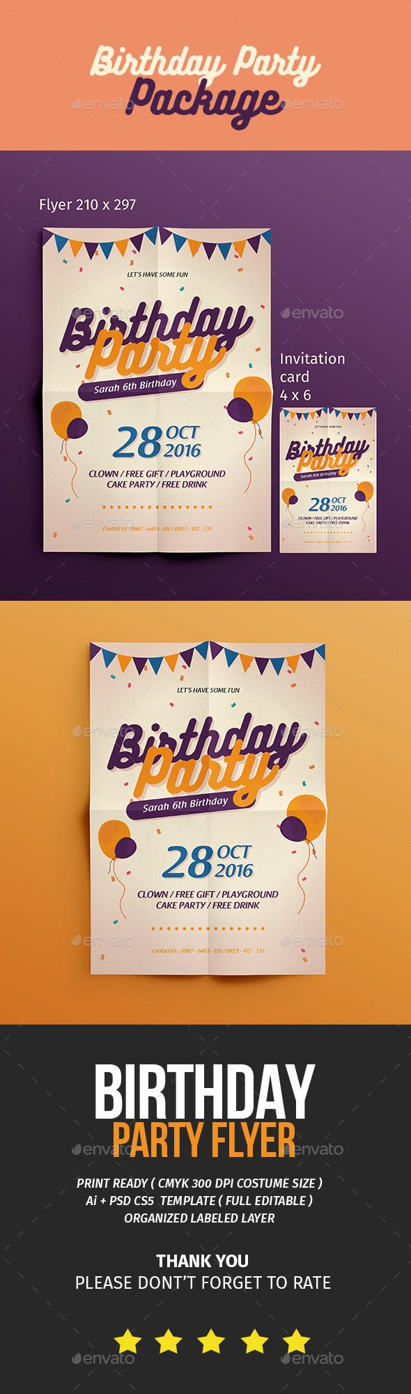 birthday flyer invitation events flyers