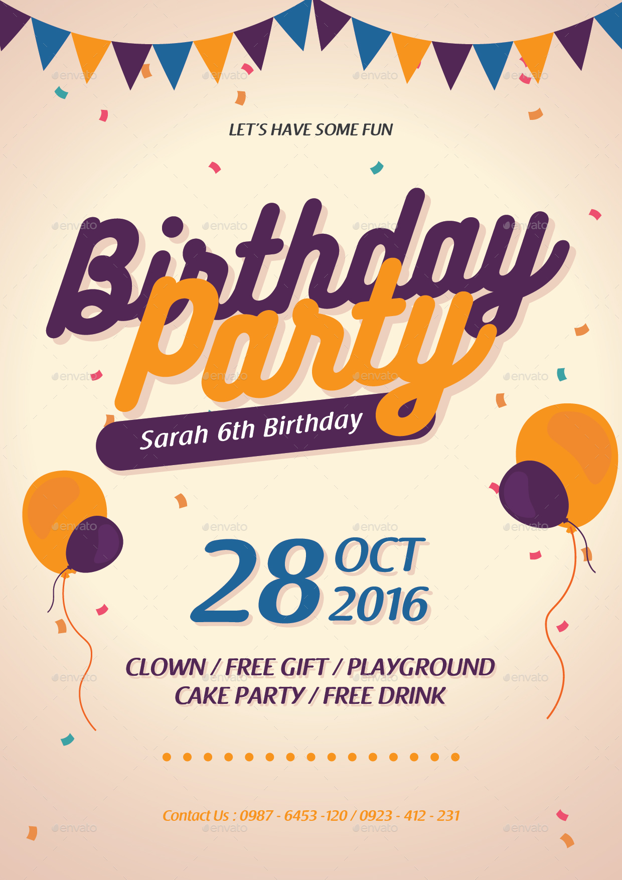 Birthday Flyer + Invitation by tokosatsu | GraphicRiver