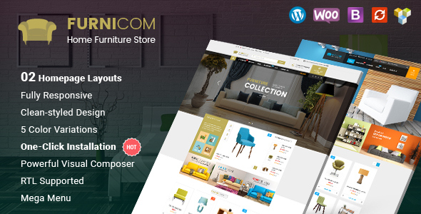 Furnicom – Responsive Furniture Woocommerce WordPress Theme
