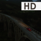 Aerial Night View of Bridge and Car - VideoHive Item for Sale