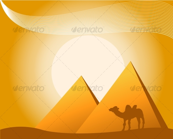 illustration of pyramids - Travel Conceptual