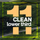Clean Lower Third  - VideoHive Item for Sale