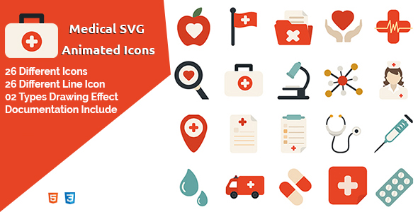 Medical - SVG Animated Icons - CodeCanyon Item for Sale