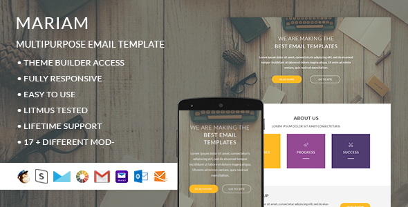 Mariam- Responsive Email + StampReady Builder - Email Templates Marketing