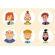 Set Of Diverse Round Avatars Isolated On White - GraphicRiver Item for Sale