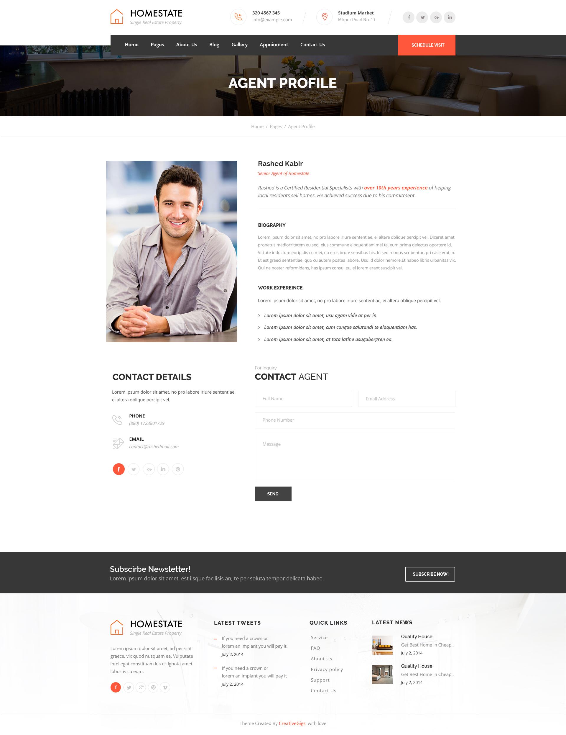 real estate agent profile samples
