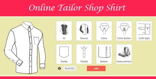 Magento Tailored Shirt Design Online - CodeCanyon Item for Sale
