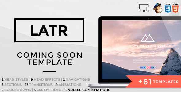 LATR – Ultimate Coming Soon Template