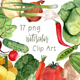 17 Watercolor Vegetables Clip Art - GraphicRiver Item for Sale