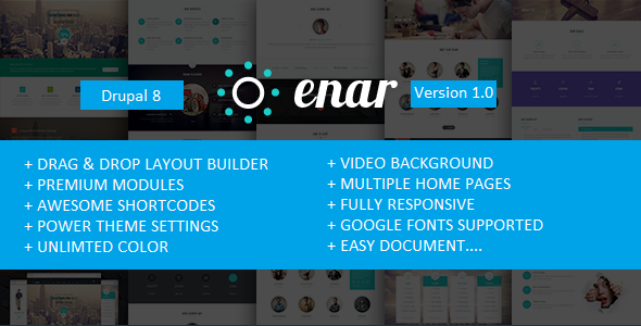 Enar – Multipurpose Drupal 8 Theme
