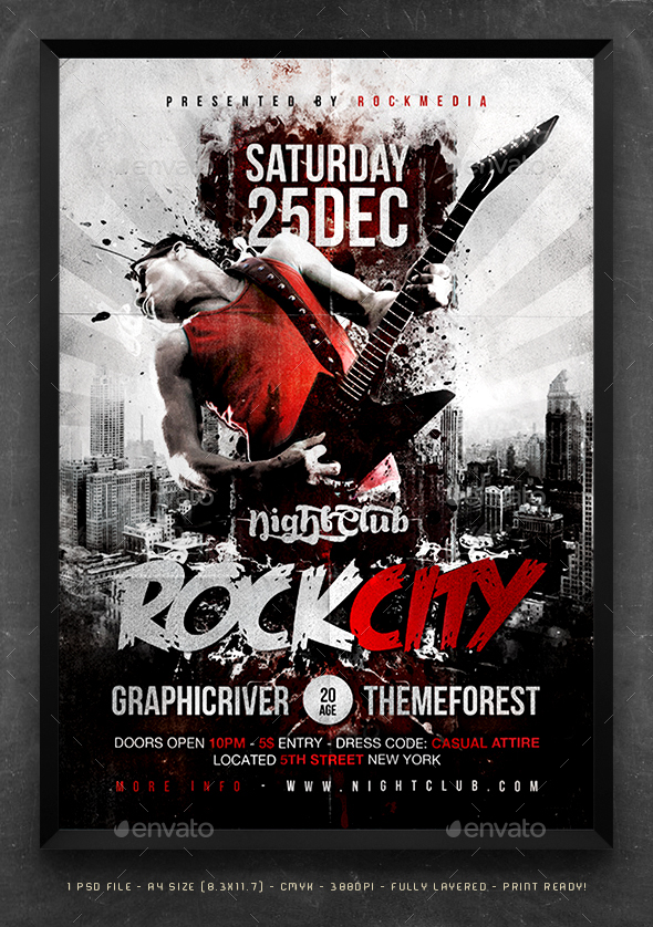 Rock City Concert Flyer / Poster By Fadeink | Graphicriver