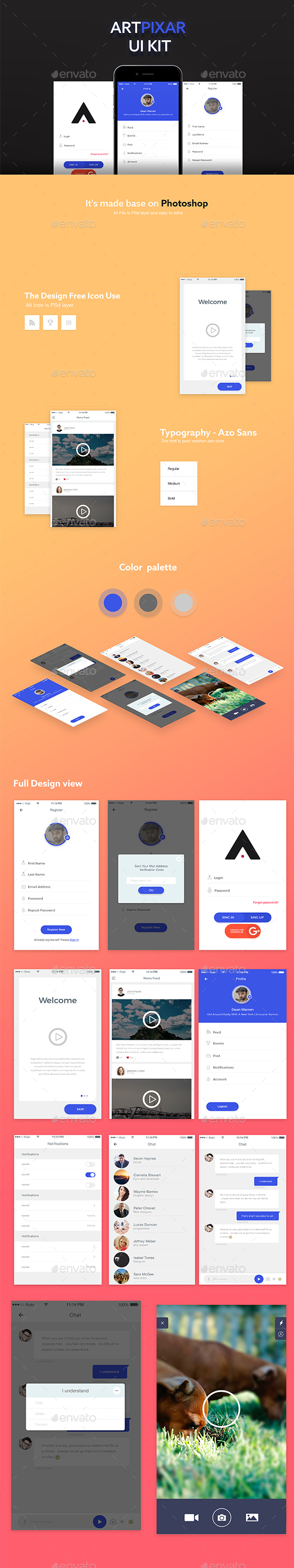 Artpixar UI E-commerce App - User Interfaces Web Elements