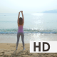 Young Woman on Her Workout on the Beach - VideoHive Item for Sale