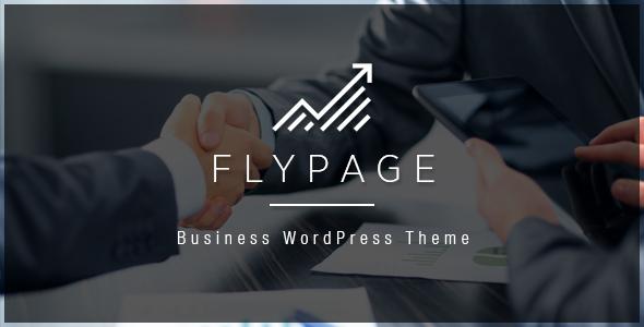FlyPage – Minimalist Landing Page WordPress Theme