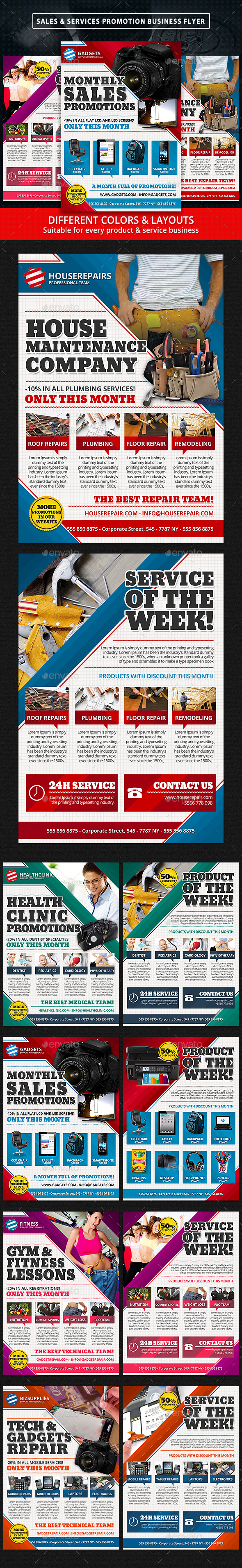 Product Sales & Services Promotion Business Flyer - Commerce Flyers