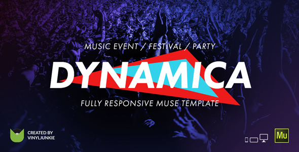 Dynamica – Music Event / Festival / Party Responsive Muse Template