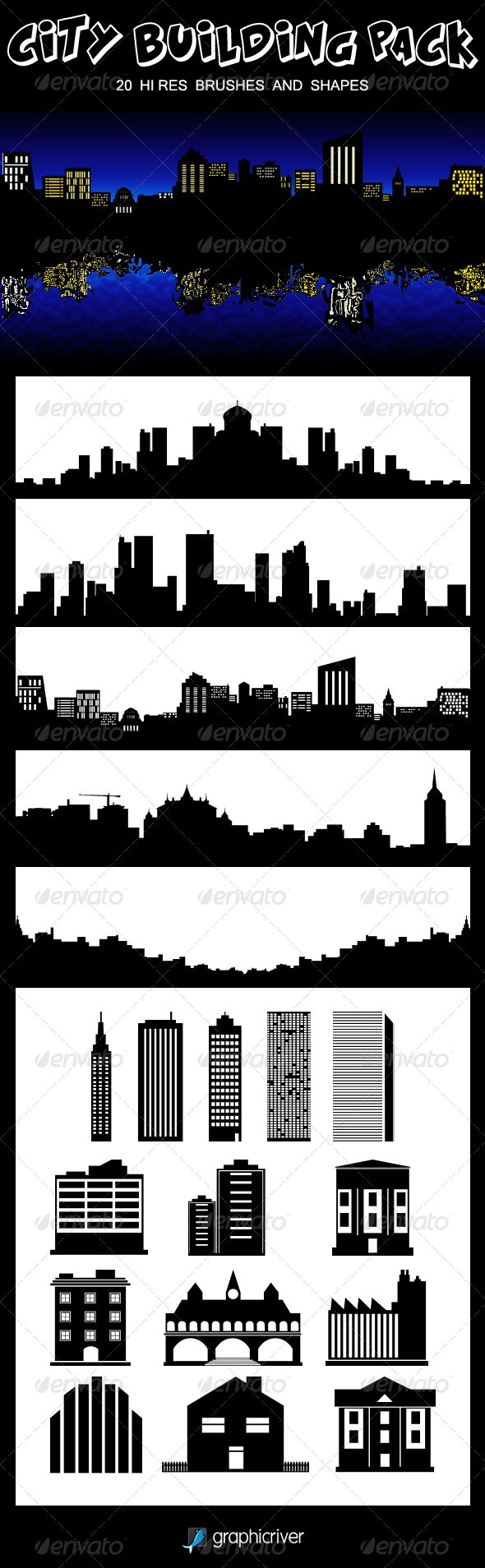 City Building Pack - Brushes Photoshop