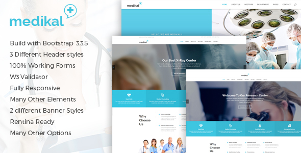 Medikal - Health Care & Medical HTML5 Template - Health & Beauty Retail