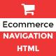 SHOP MENU -Creative e-commerce Bootstrap mega menu - HTML - CodeCanyon Item for Sale