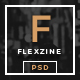 FlexZine -  Magazine PSD Template Nulled