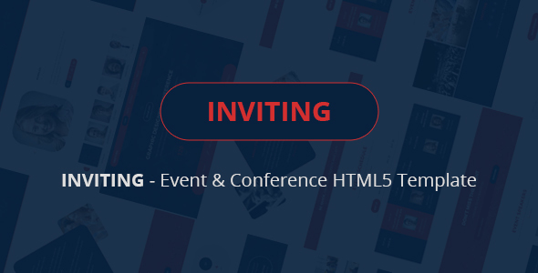 INVITING – Event & Conference HTML5 Template  - Events Entertainment