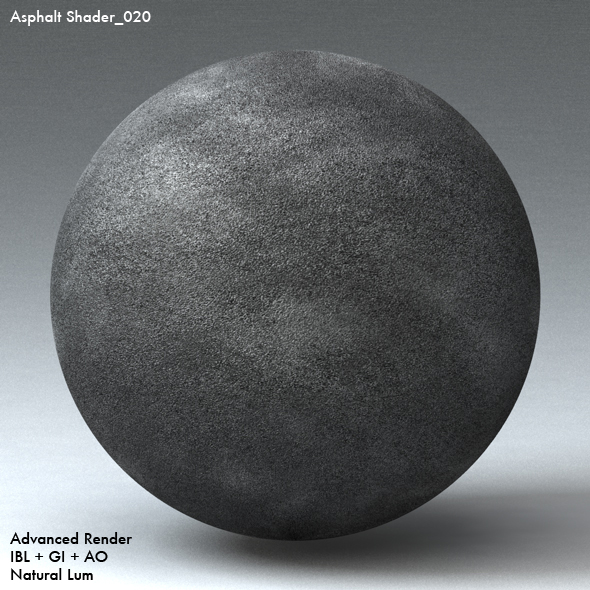 Asphalt Shader_020 - 3DOcean Item for Sale