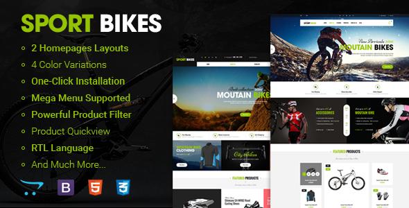 Sportbike – Premium Responsive OpenCart Theme