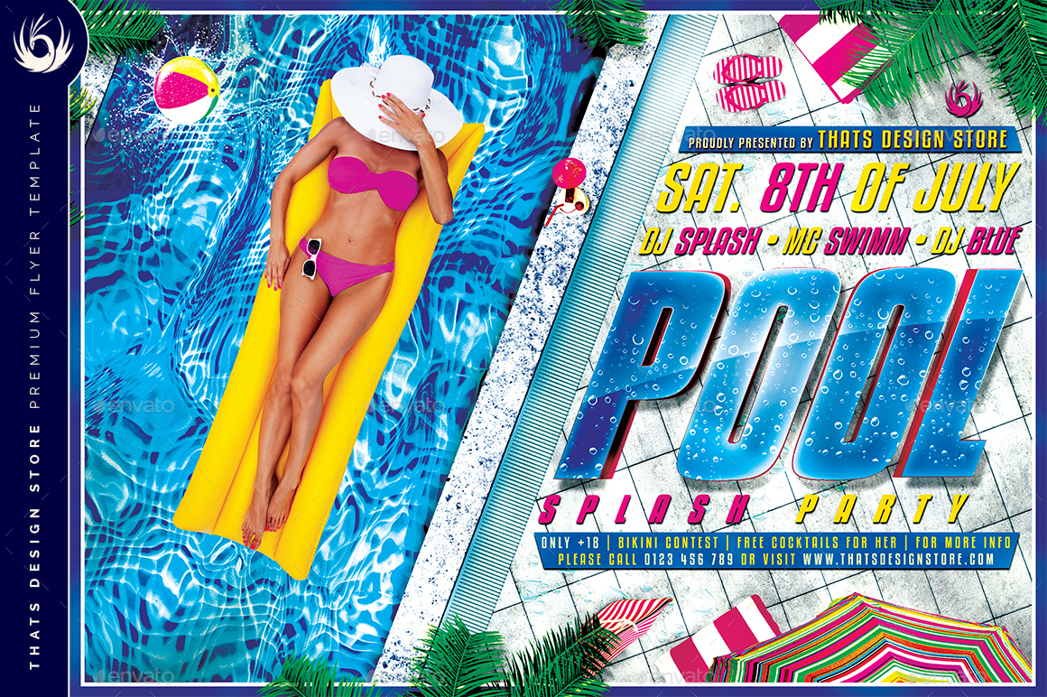 01_Pool Splash Party Flyer Template ...