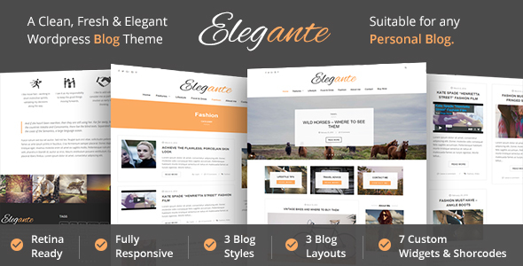 Elegante – Clean & Elegant WordPress Blog Theme