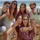 Group Of Happy Friends Pulling Goofy Faces - VideoHive Item for Sale