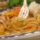Eating Glass Noodle Stir Fry With Vegetable  - VideoHive Item for Sale