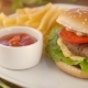 Burger With French Fries And Ketchup - VideoHive Item for Sale