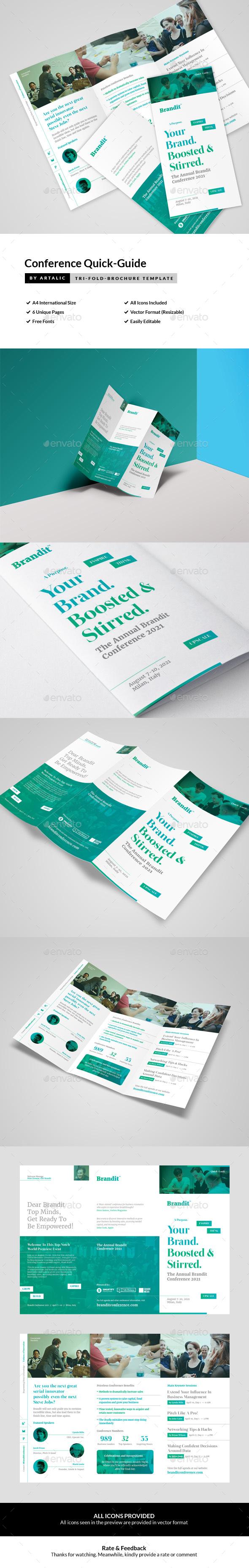 Conference/Seminar Leaflet - Brochures Print Templates