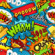 Multicolored Comics Speech Bubbles Seamless Pattern Vector  - GraphicRiver Item for Sale
