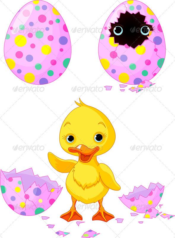 Easter duckling - Religion Conceptual