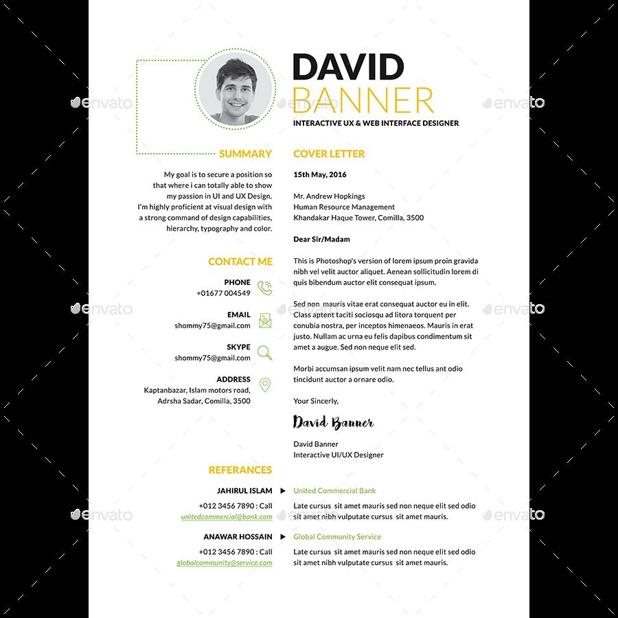 Sleek Resume CV By Samiul75