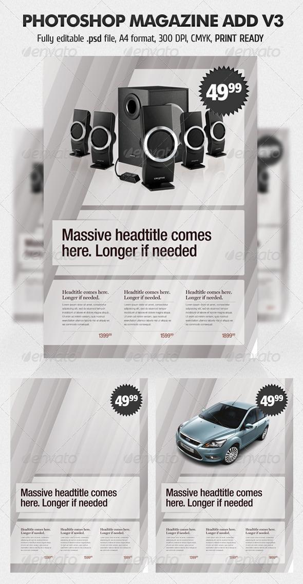 Photoshop Magazine Add V3 - Magazines Print Templates