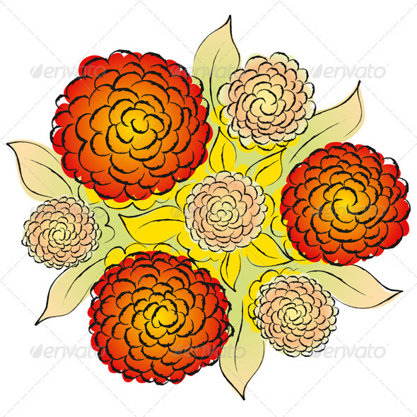 Vector Flowers - Decorative Vectors